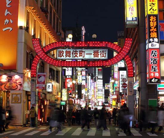 8.日本东京新宿歌舞伎町:分区专营