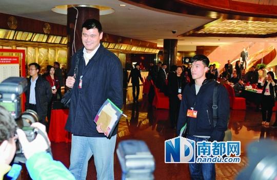 姚明、刘翔现身。南都记者张明术摄