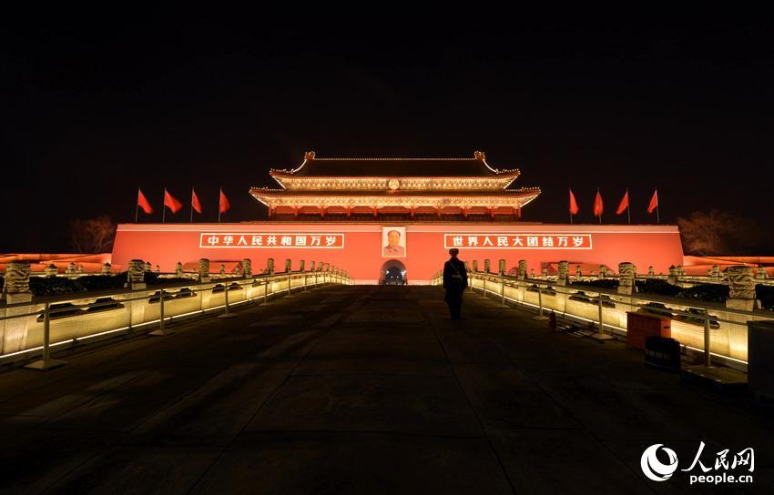北京天安门ppt背景