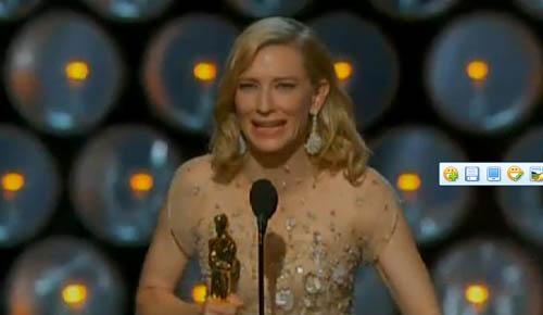 见惯大风大浪的女神凯特-布兰切特站到奥斯卡影后奖台上也忍不住哭了