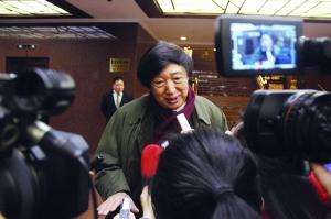 冯骥才接受媒体采访