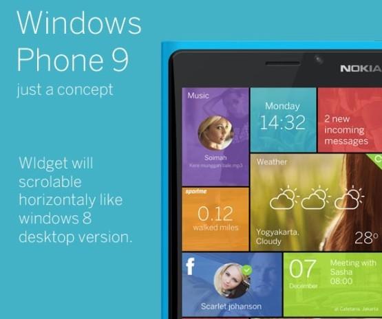放弃动态磁贴 微软WP9概念图赏遭曝光