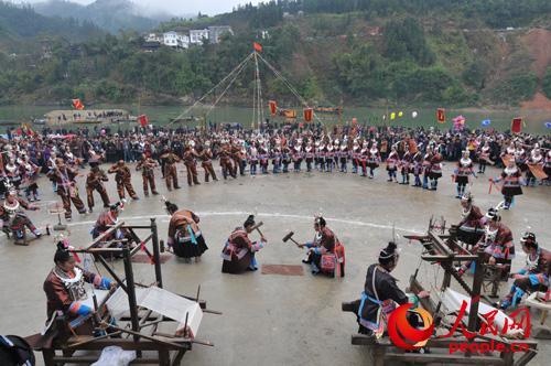 广西三江侗族自治县举办 二月二 侗族大歌节图片