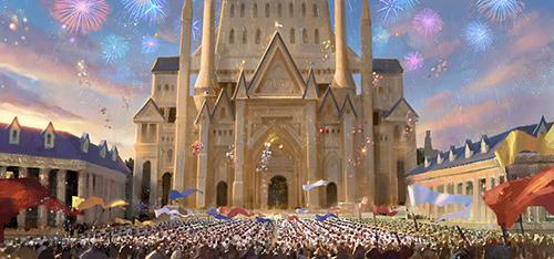 《龙之谷》概念设计图之皇宫广场阅兵