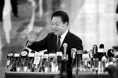交通部部长杨传堂。京华时报记者王海欣摄