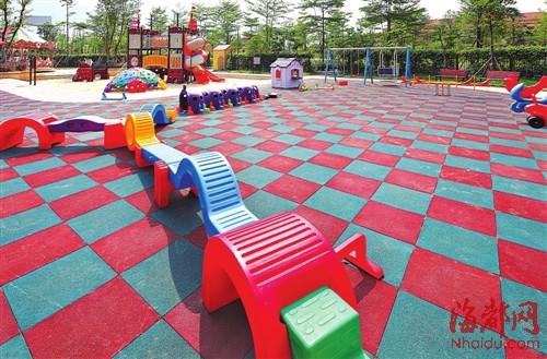 三盛·国际公园户外儿童游乐园实景图-五四北路网再完善 三盛 国际公