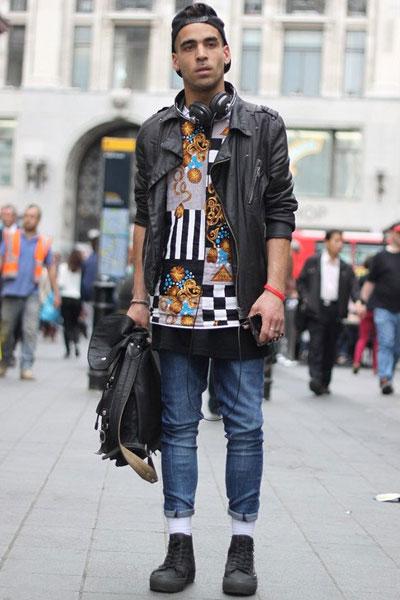 街头个性男