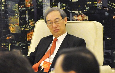 港区全国人大代表团副团长、香港中国旅行社有限公司董事长卢瑞安 人民网记者 厉振羽摄