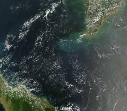 """马航飞机失联地点_NASA卫星9日拍到疑似MH370""""失事""""地点(图)-搜狐新闻"""