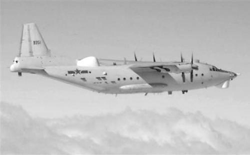 日本防卫省9日发布的中国Y-8预警机照片。
