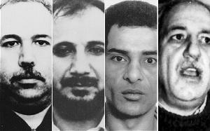 马尔万・克希萨特、哈菲兹・达尔卡莫尼、穆罕默德・阿布・塔尔布、艾哈迈德・贾布里勒(从左至右)