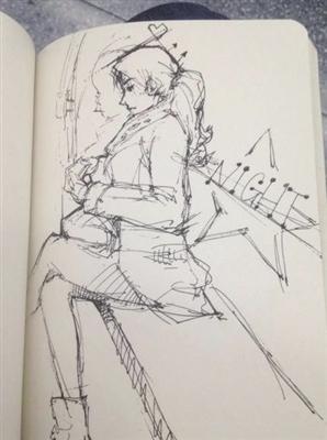 我觉得我的手绘漫画就是地铁里大家转换心情的一个小窗口,通过这个