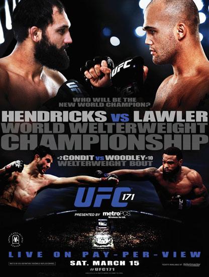 UFC171官方宣传海报