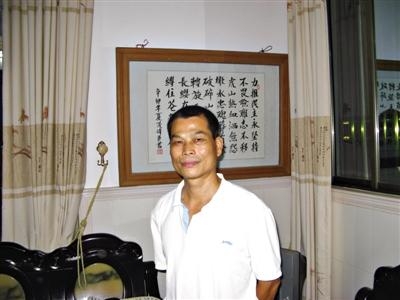 """杨色茂说,""""我们在为乌坎的未来努力,也是在为中国的未来努力。"""" 新京报记者 孔璞 摄"""