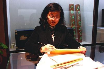 徐文静最近获评省级传承人。 张可 摄