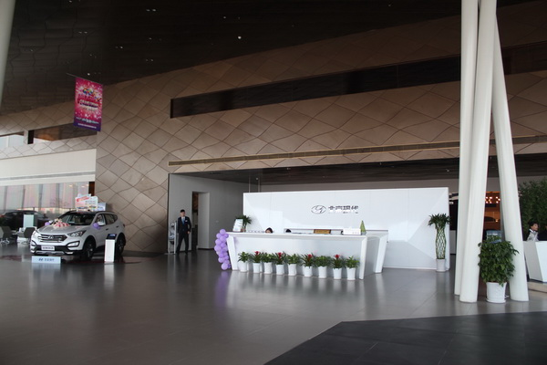 西安泽泰瑞钢现代4S店展厅