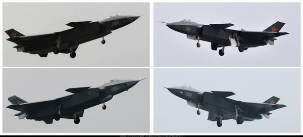 四架歼20一起亮相见没见过?尤其是还有少见的2004号机。