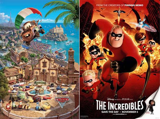 """皮克斯公司启动了两部""""总动员""""动画大片的续集拍摄计划――一部是《超人总动员2》,另一部是《赛车总动员3》"""