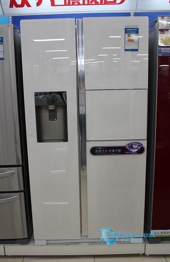 580升超大容积 看卡萨帝精美对开门冰箱