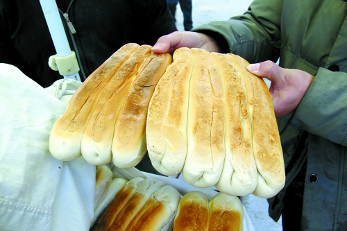 漯河市舞陽縣北舞渡鎮特色飲食之一杠子饃