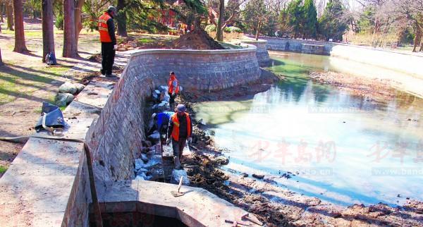八大关红水湖清淤了