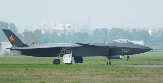 原文配图:2001可以被认为是歼-20的第一架原型机。
