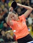 图文:乒乓球亚洲杯半决赛 李晓霞回球