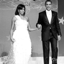 奥巴马第一次就职典礼上的米歇尔