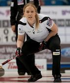 图文:女子冰壶世锦赛瑞士晋级 瑞士队员