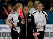 图文:女子冰壶世锦赛瑞士晋级 表情严肃