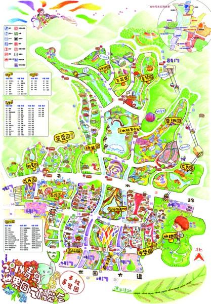 佛山女孩手绘导览地图 世园会期间将免费发放给游客
