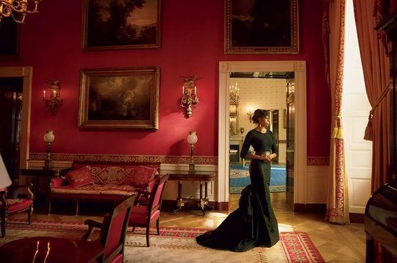 现任第一夫人米歇尔与红厅