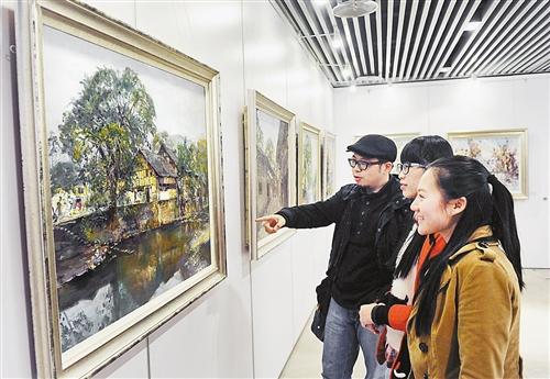 """""""我们的中国梦""""·重庆黄桷垭油画村优秀作品展举行"""
