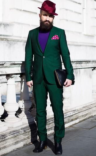 男士搭配指南 橄榄绿遇上诱惑紫
