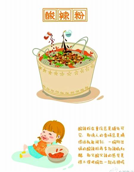 深夜嘴馋吃货手绘五大重庆美食(组图)