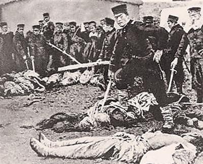 原文配图:1894年11月21日,日军屠城旅顺的真实场景。