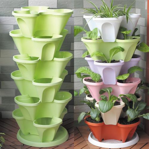 立体式花盆   阳台种菜最受局限的就是空间图片