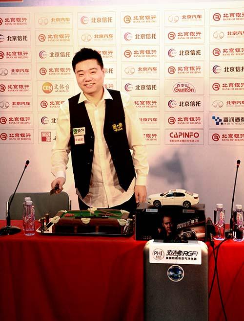 斯诺克中国赛开门红 艾洁弗空气净化器和丁俊晖共庆生