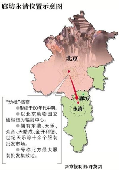今年1月8日,北京动物园一服装批发市场因搬迁甩货. 图/cfp