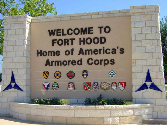 资料图:美国得克萨斯州中部的美军胡德堡军事基地