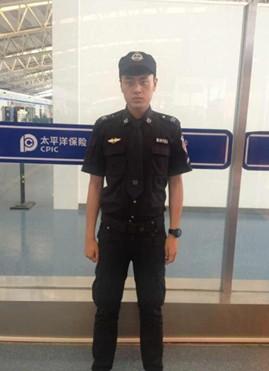 陕西蓝天民航技师学院在机场安检岗位就业学生向思宇