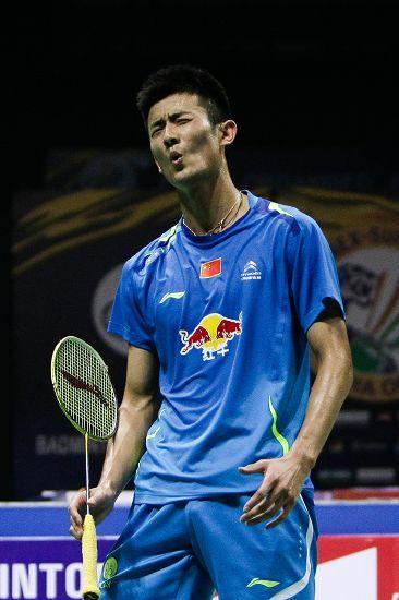 图文:2014印度羽毛球赛 谌龙自说自话