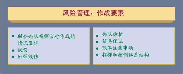 图3-10 风险管理:作战要素