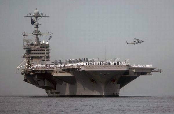美国华盛顿号航母。