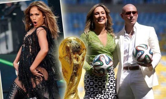 洛佩兹(左)加盟献唱巴西世界杯主题曲