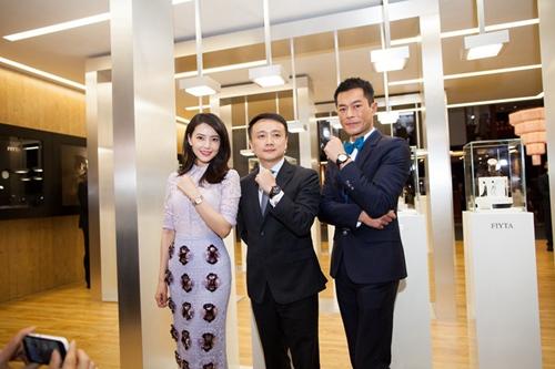 飞亚达品牌总经理杜熙先生及代言人高圆圆、古天乐发布慈善特别款腕表