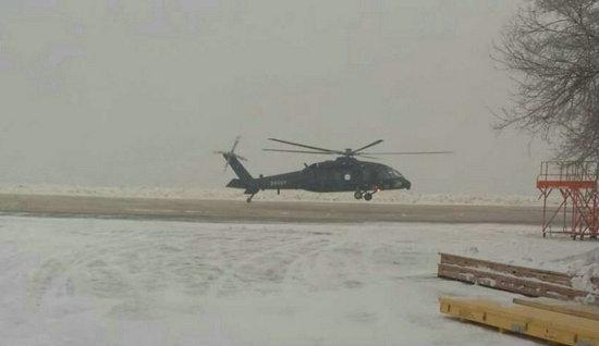 资料图:中国新型直-20军用直升机成功首飞。