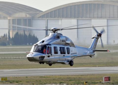 资料图:中法合造的直-15直升机。