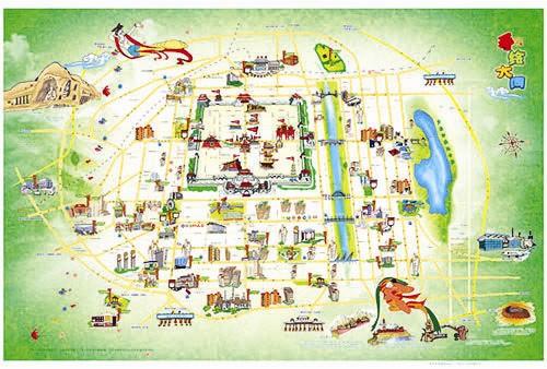 山西首张手绘旅游地图《手绘大同》面世