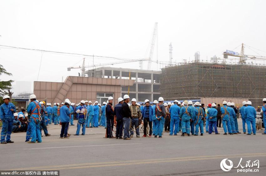 山东郯城一化工厂发生爆炸 工人紧急疏散 【4】来源人民网-图片频道
